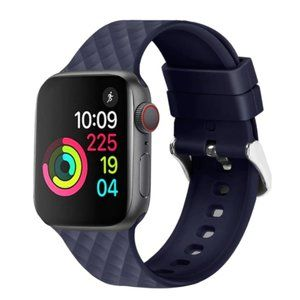 NEW NAVY Rhomboid Silicone Band Apple Watch